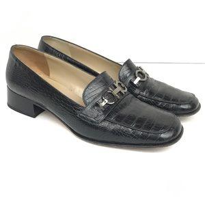 Salvatore Ferragamo Womens Size 8 E Classic Vtg